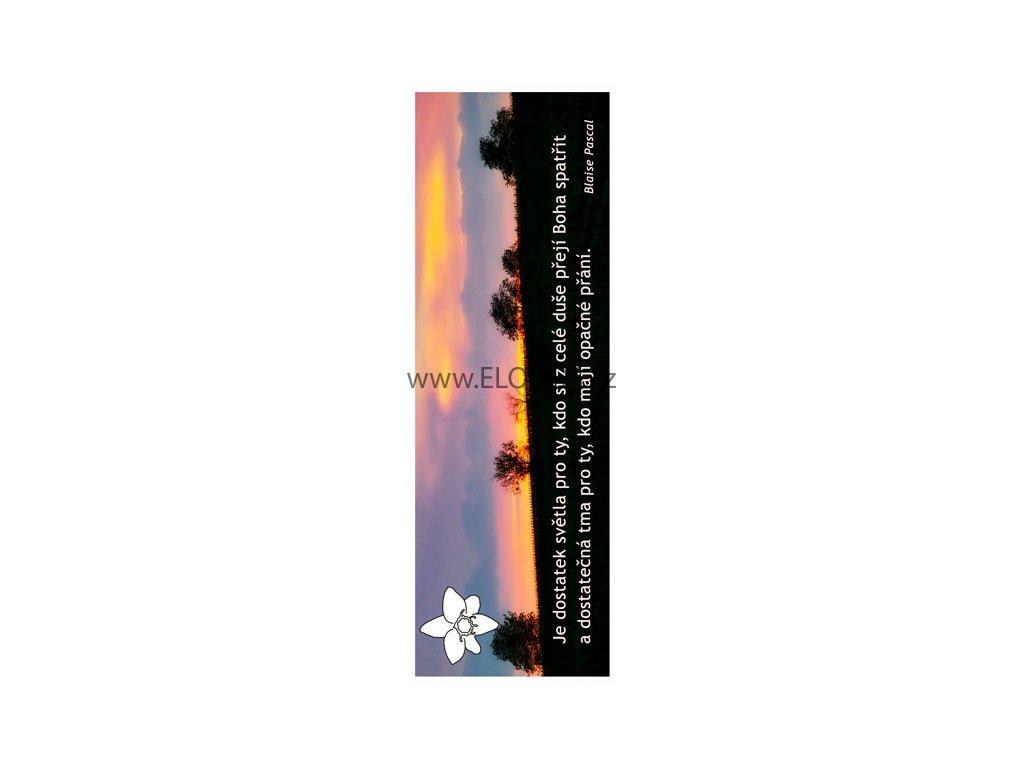 Záložka do knihy s textem-Bible , duchovní tematika