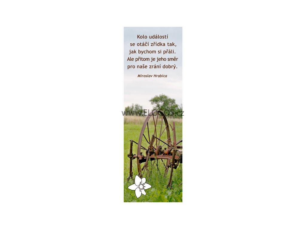 Záložka do knihy s textem-čeští autoři