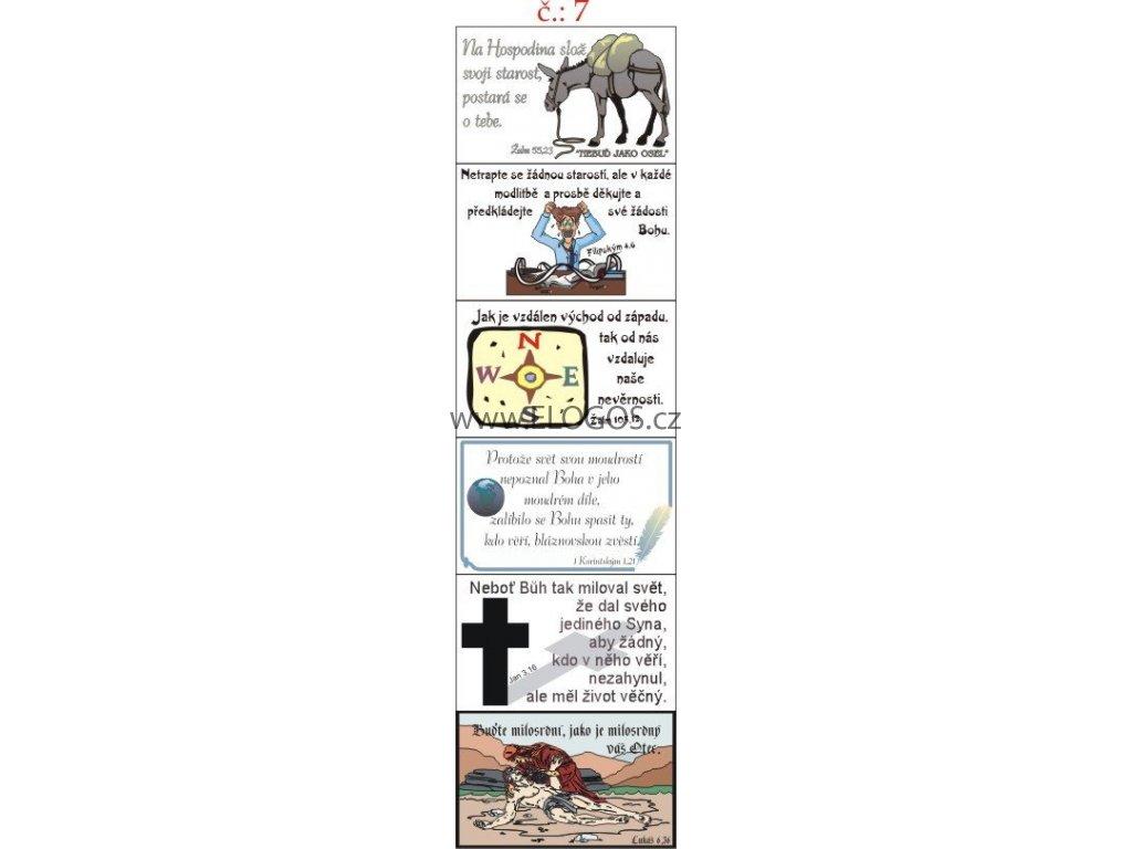 Samolepky - aršík. Biblický motiv