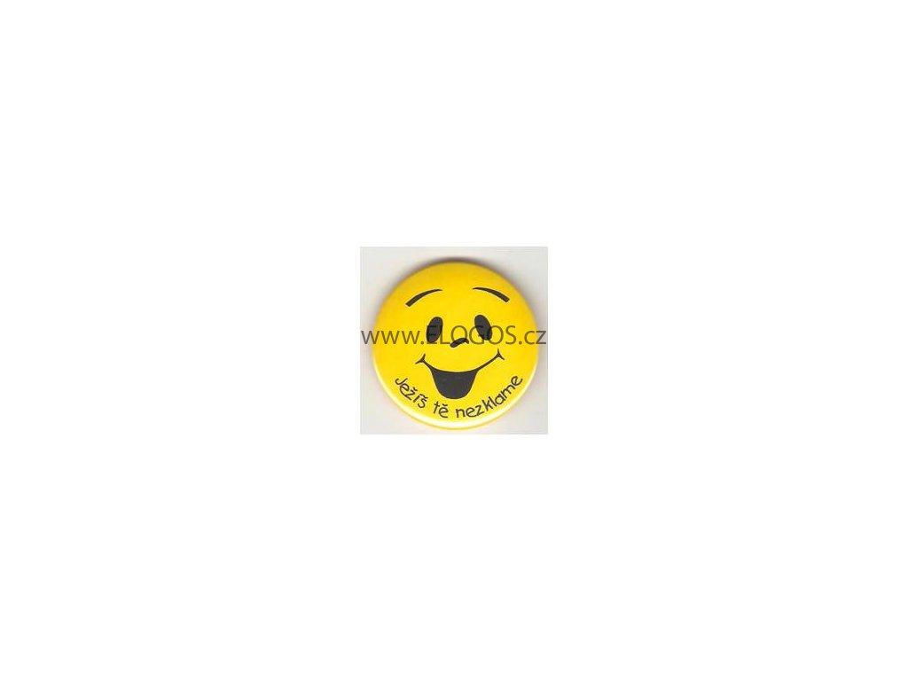 Odznak –dětský motiv s textem-prům.5cm.