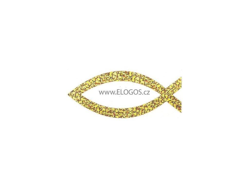 Samolepka -perleťová-zlatá ( vel.12cm )