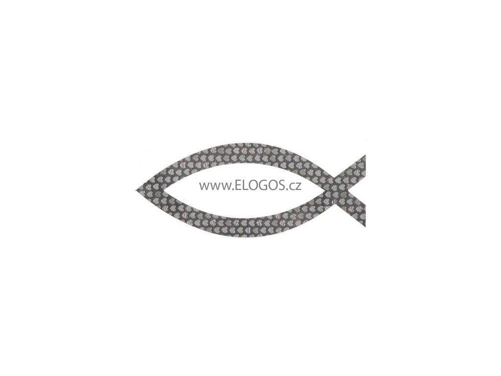 Samolepka-perleťová - střibrná ( vel. 12cm)