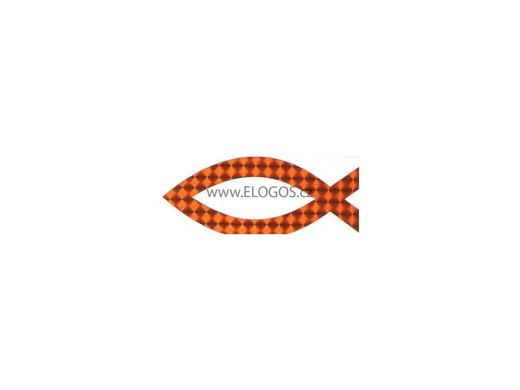 Samolepka-perleťová-pomerančová (vel.10.5cm)