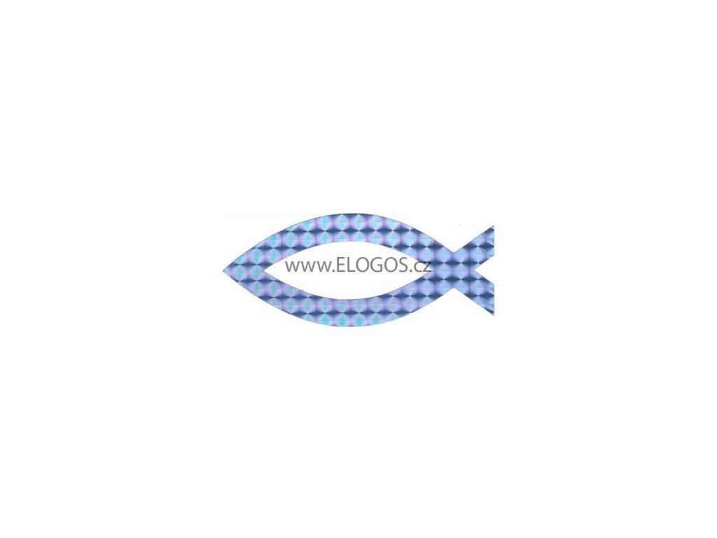 Samolepka - perlaťová - modrá (vel.10.5cm)