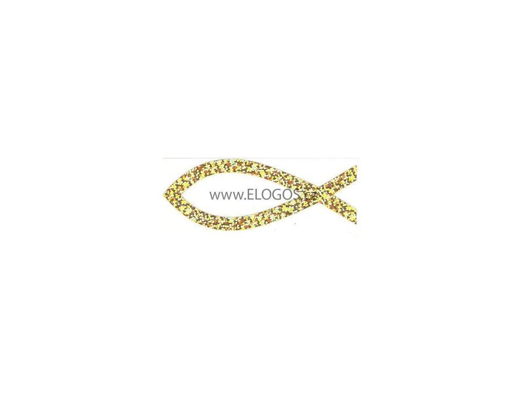 Samolepka -perleťová-zlatá (vel.10.5cm.)
