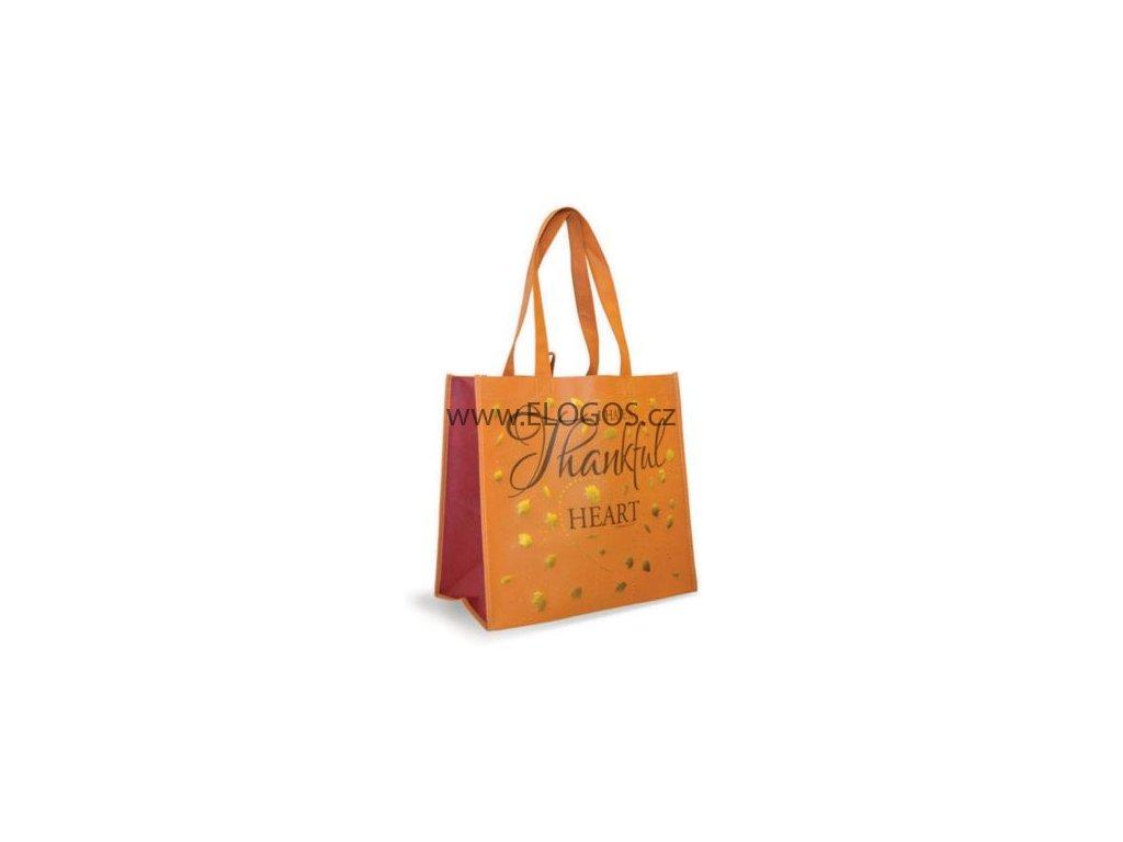 Nákupní taška s textem -Thankful heart