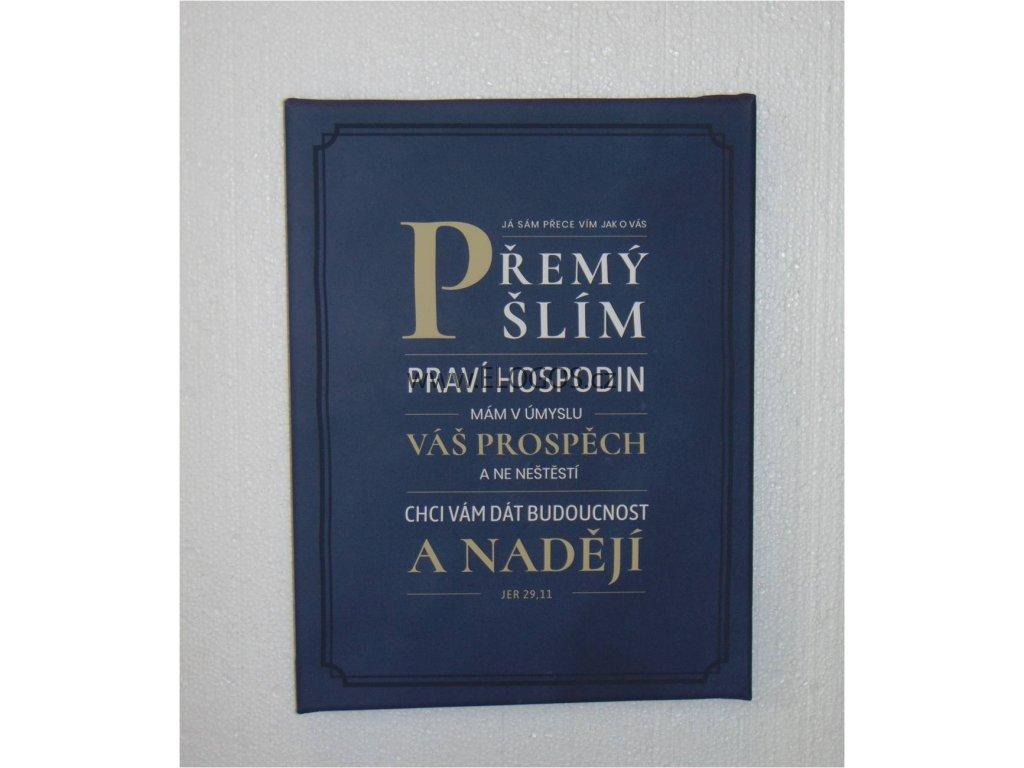 Dekorace na stěnu-Plátno s biblickým veršem