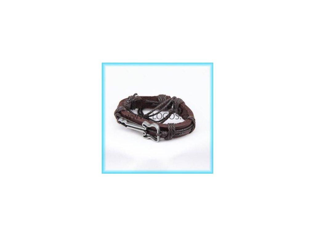 Kožený náramek - Kytara