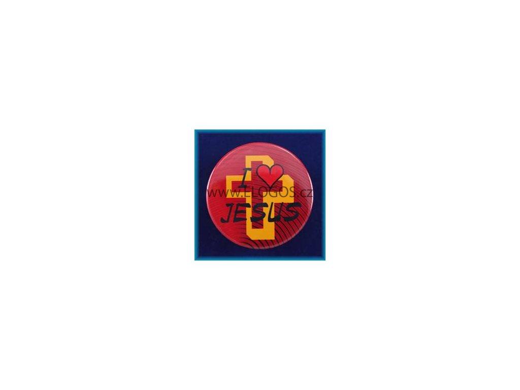 Magnetek s textem-prům.5cm-I Jesus - 2