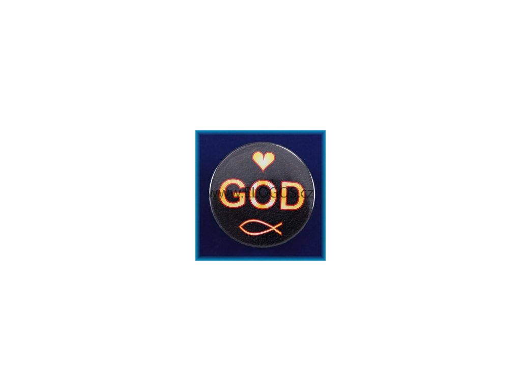Magnetek s textem-prům.5cm-GOD