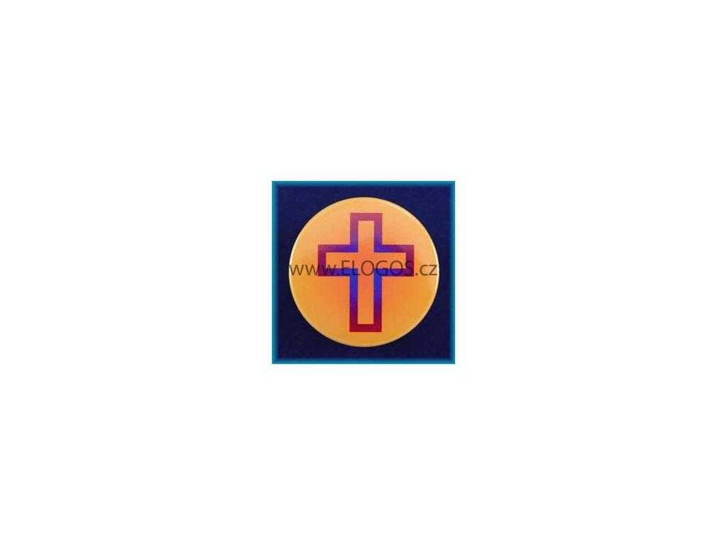 Magnetek s textem-prům.5cm-Kříž
