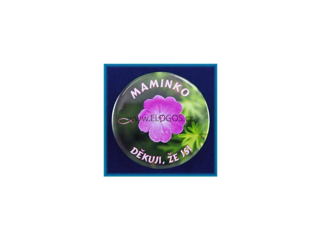 Magnetek s textem-prům.75mm-Maminko