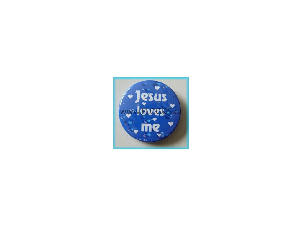 Placka 37mm - Jesus loves me