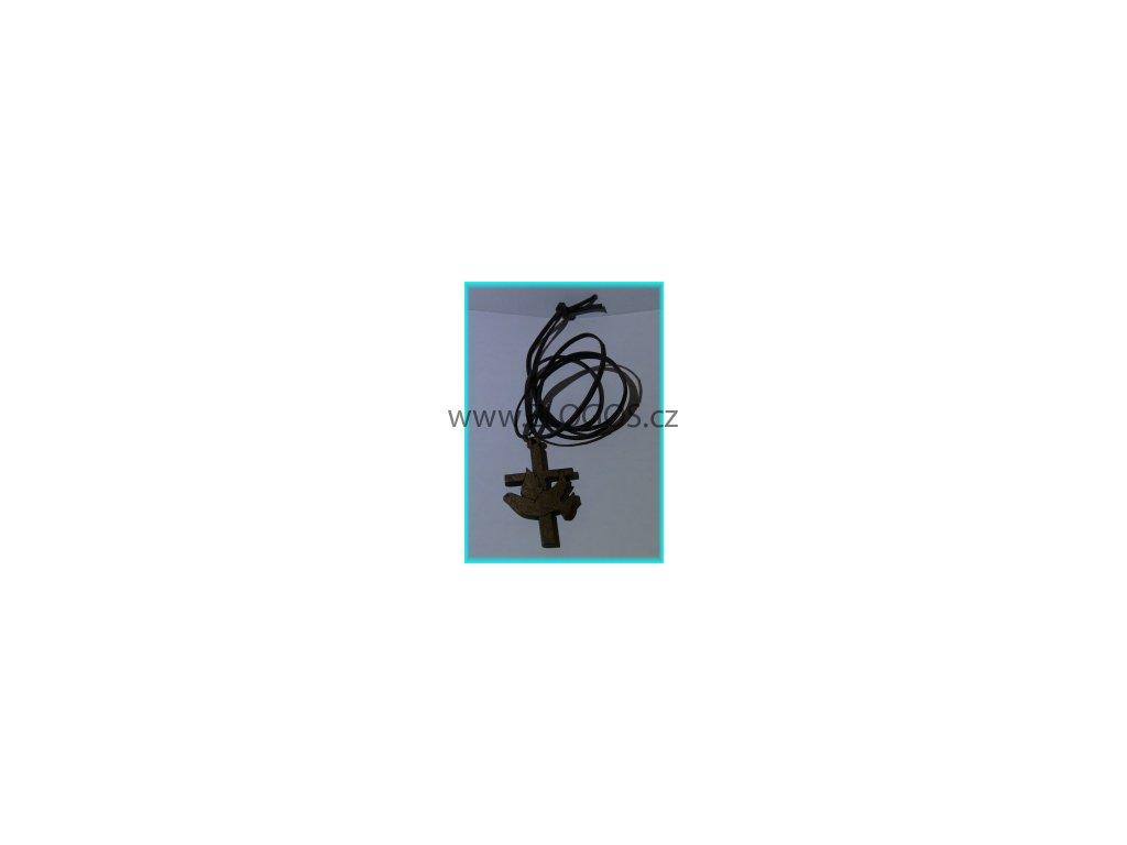 Náhrdelník - Křížek dřevěný 7