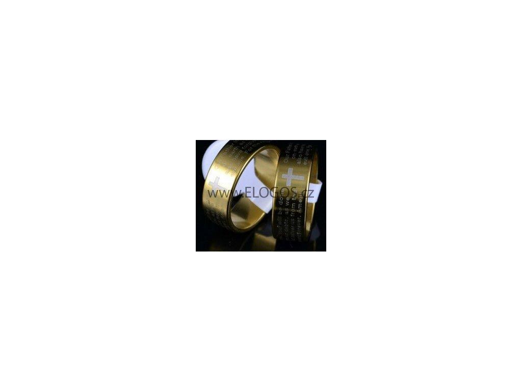 Prsten zlatý - Modlitba Páně nerez (Anglicky)