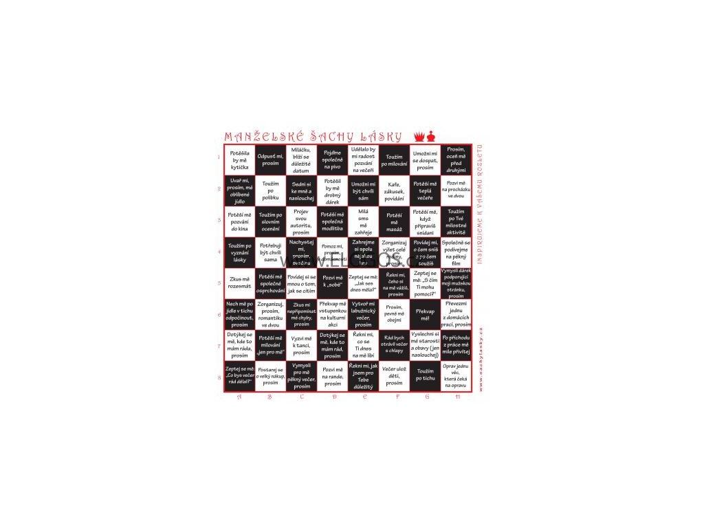 Manželské šachy lásky (černobílé)
