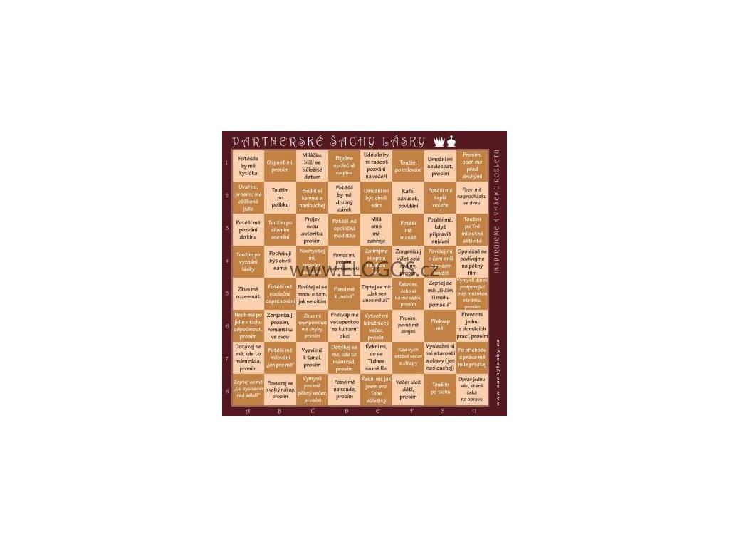 Partnerské šachy lásky (hnědé)