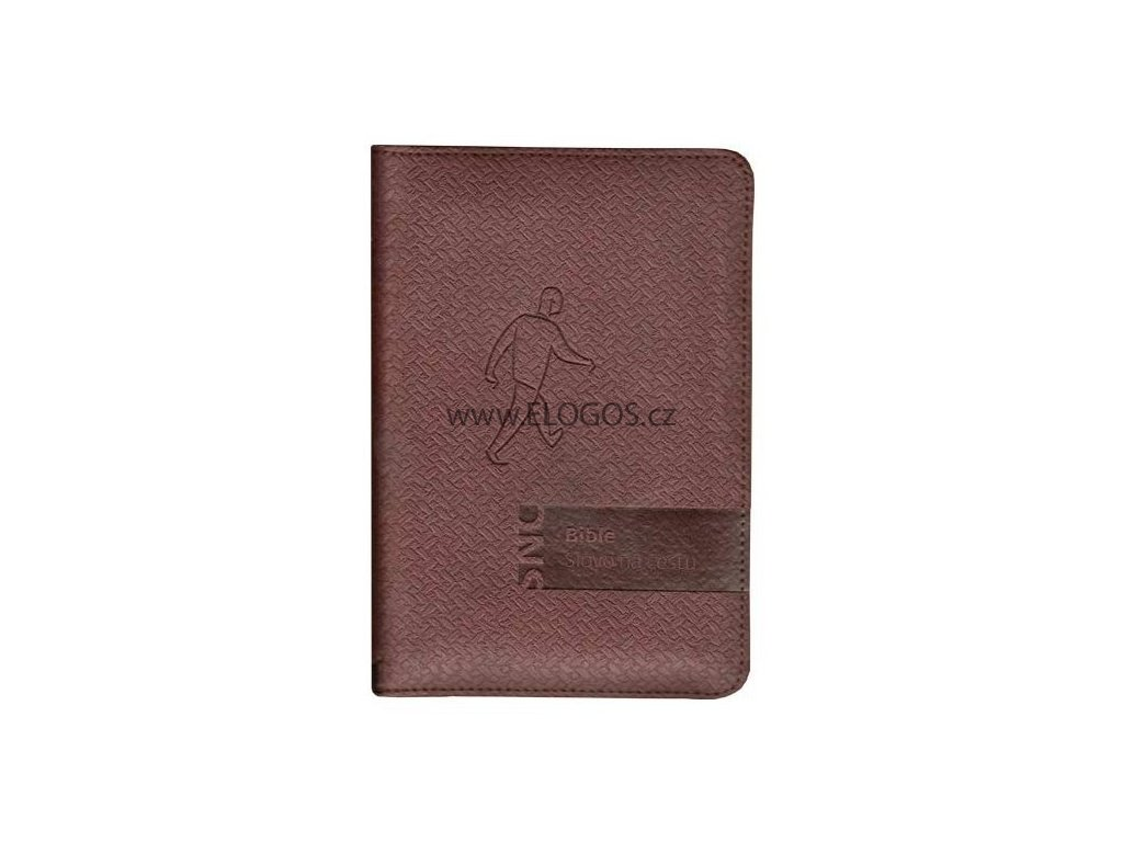 Bible Slovo na cestu malý formát, zip - čokoládová