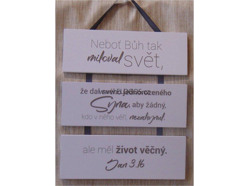 Dekorace na stěnu s  biblickým veršem