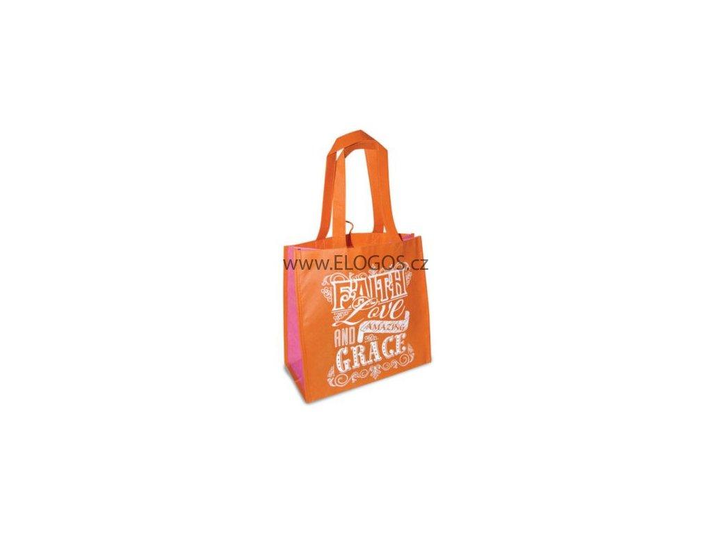 Nákupní taška s texem -Faith love