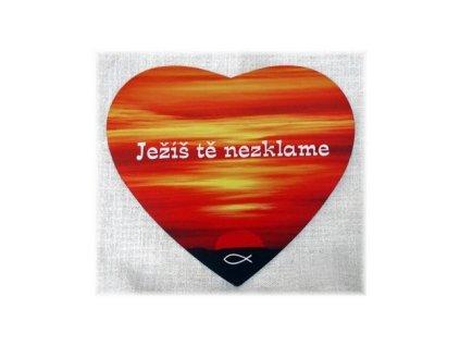 Podložka pod myš - Srdce Ježíš tě nezklame