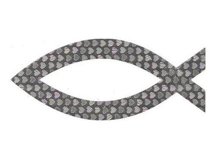 Samolepka-perleťová - střibrná (vel.10.5cm.)