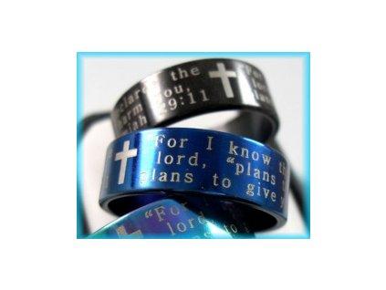 Prsten černý - Jeremjáš 29:11 (Anglicky)