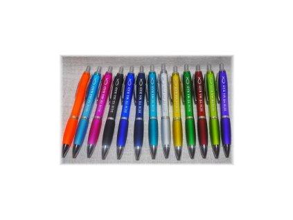 Kuličkové pero - Bůh tě má rád - velkokapacitní náplň