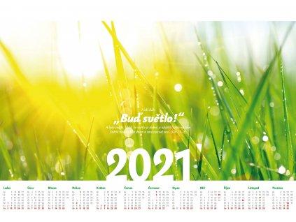 """Nástěnný kalendář 2021 - """"Buď světlo!"""