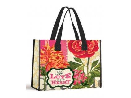 Nákupní taška s texem-Keep Love