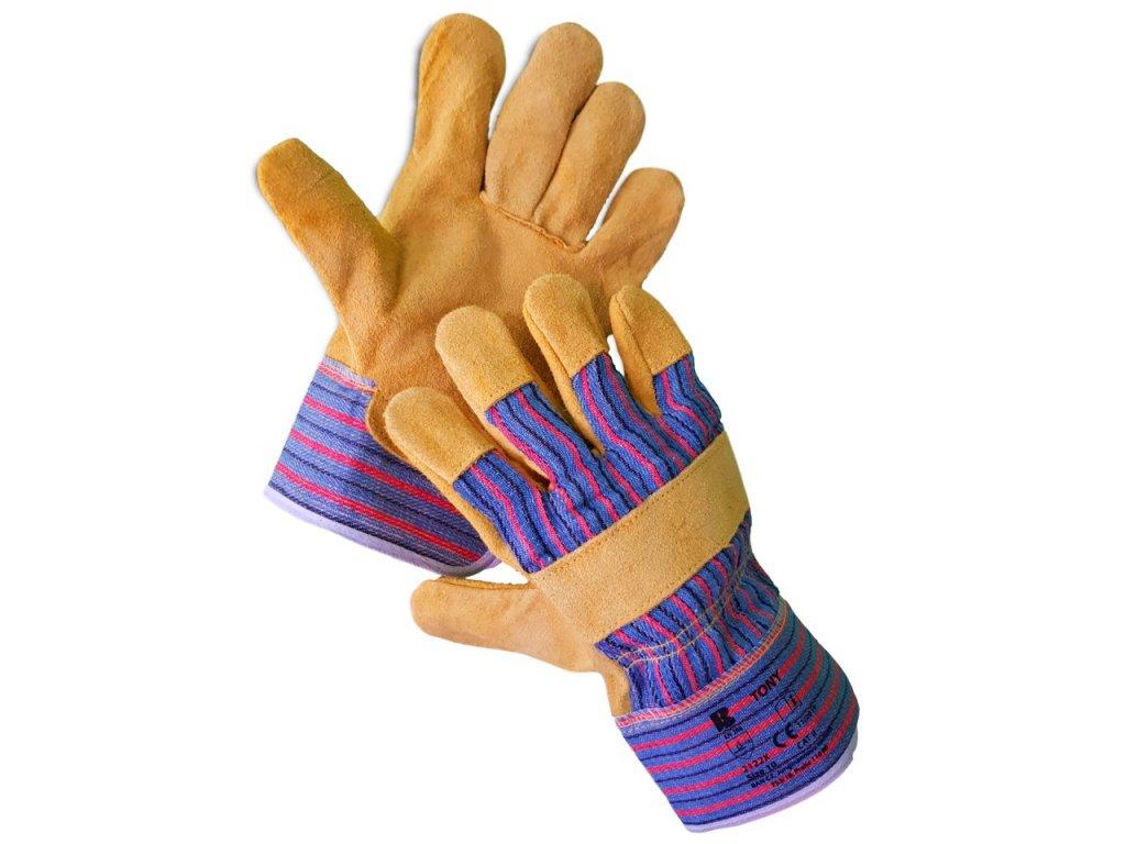 Kombinované štandardné kožené rukavice TONY