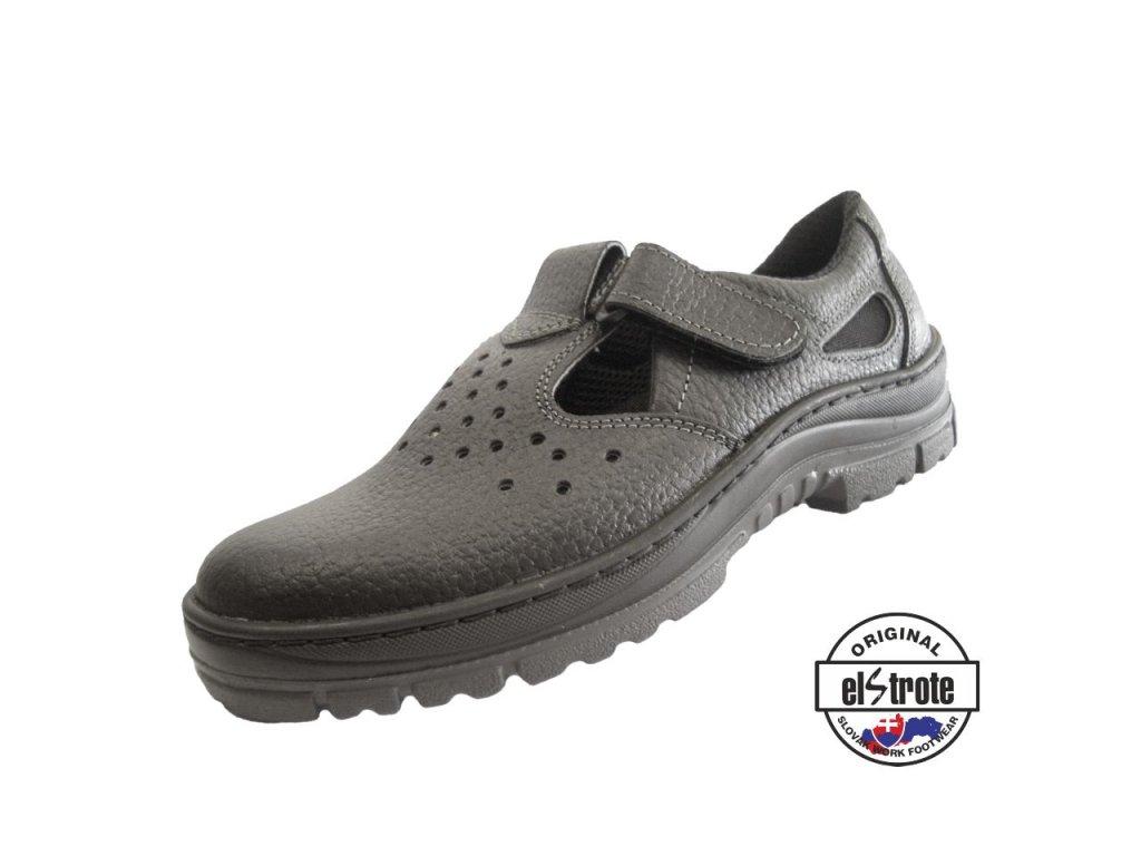 Bezpečnostné sandále ECONOMY TAILOR 91 265 S1 čierne - dopredaj