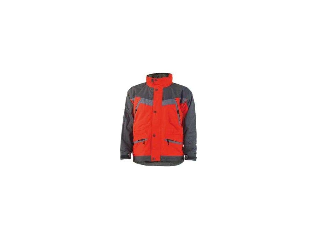 Zimná pracovná bunda ICEBERG červená - dopredaj