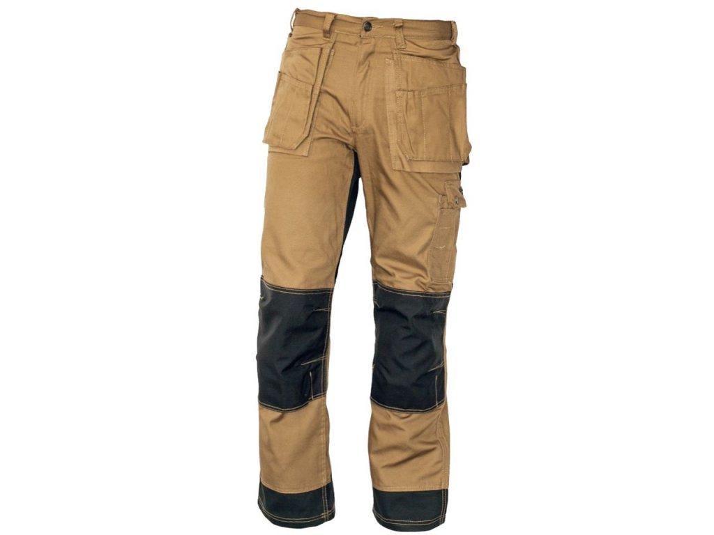Pánske montérkové nohavice do pása NARELLAN béžové - dopredaj