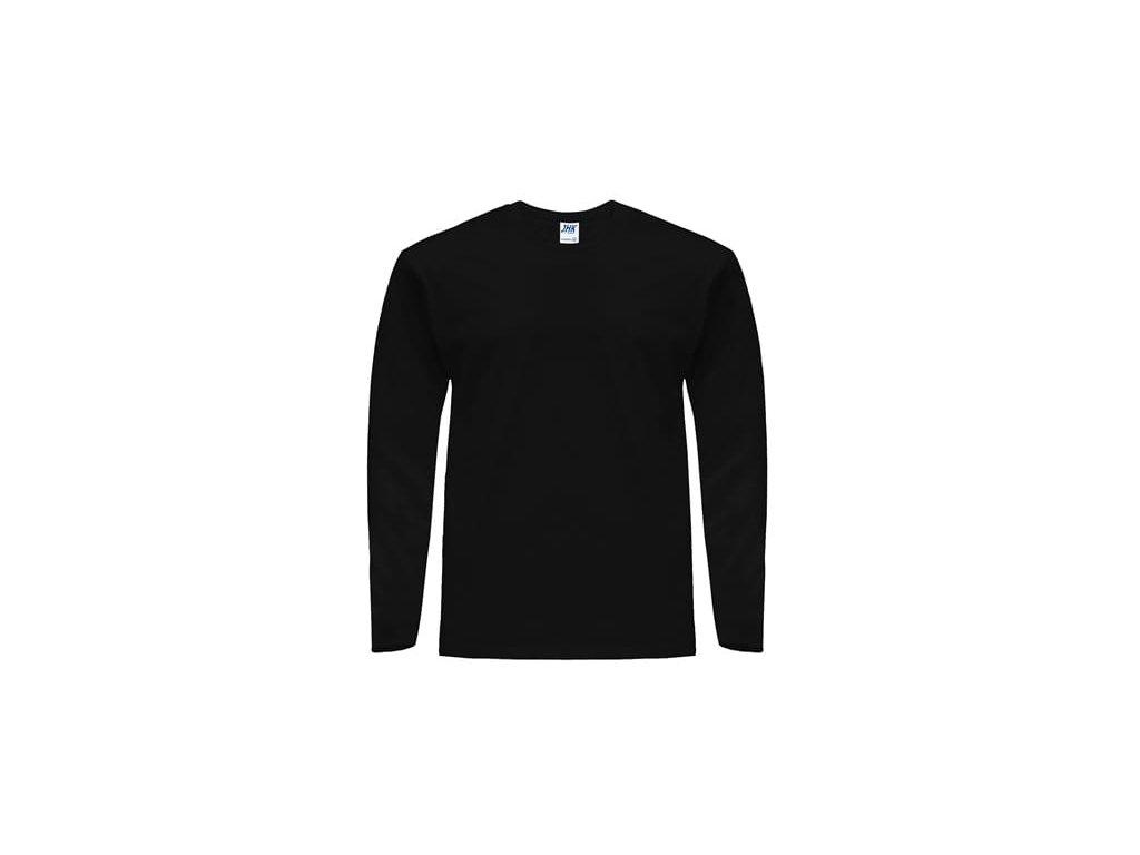 Pánske tričko s dlhým rukávom TSRA150LS čierne - dopredaj