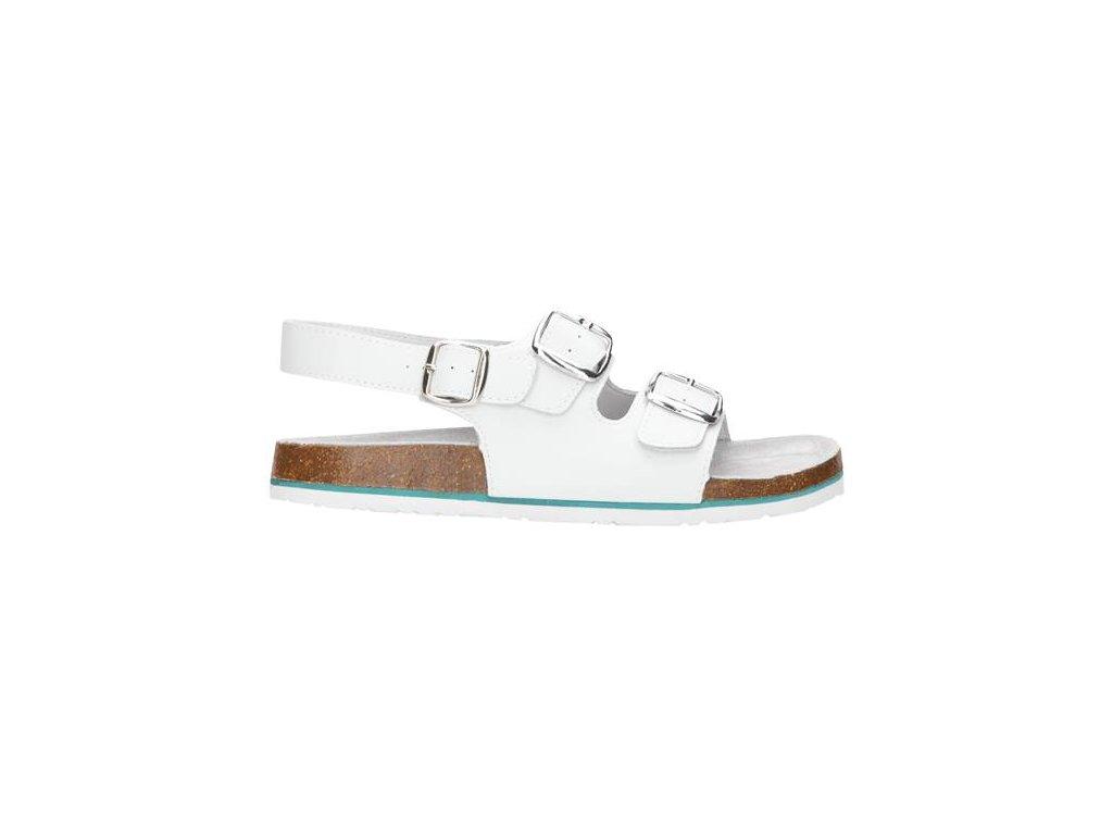 Sandál MERKUR bielý