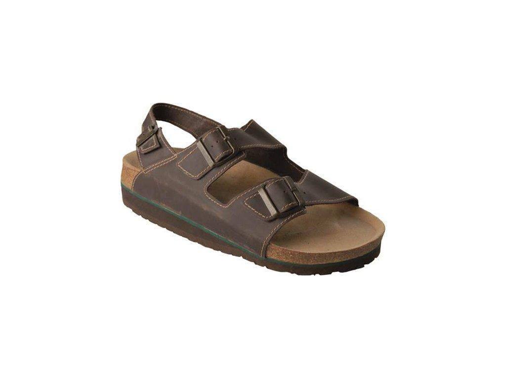 Sandál DORIS hnedý