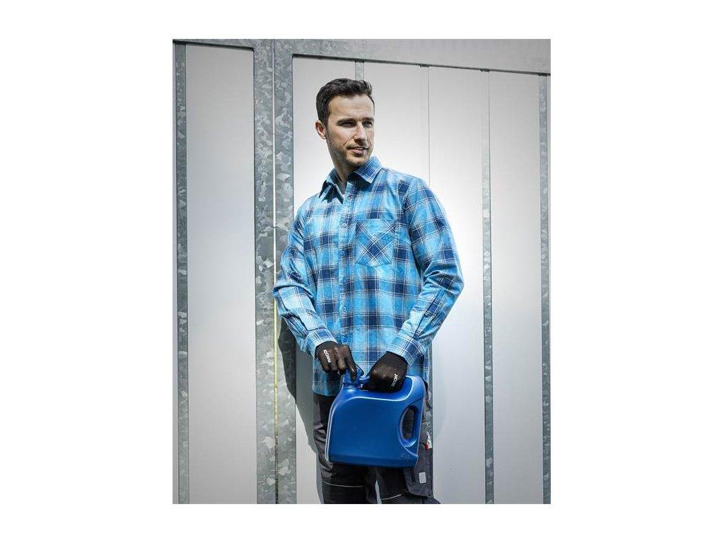 Flanelová košeľa URBAN, modrá