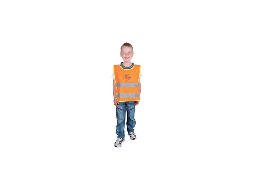 Detská reflexná vesta ALEX oranžová