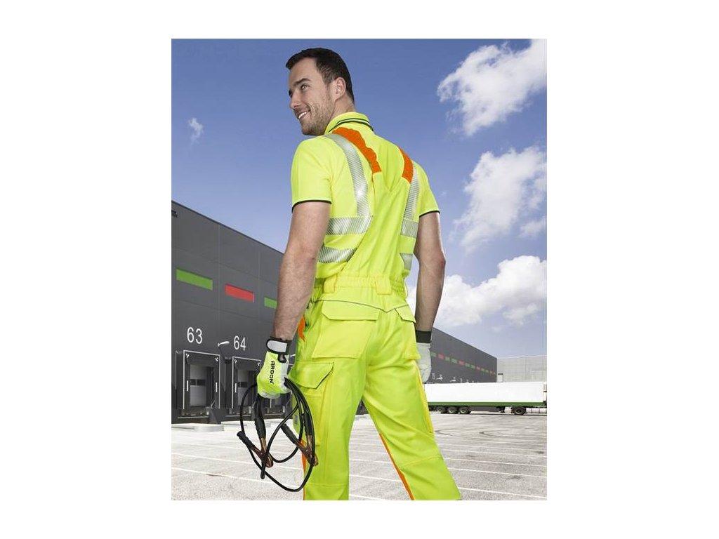 Nohavice s náprsenkou ARDON®SIGNAL predĺžené žlté