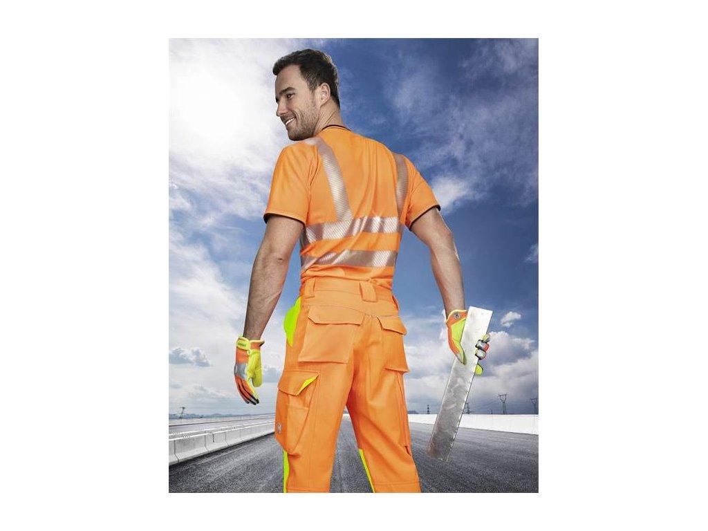 Nohavice do pása ARDON®SIGNAL skrátené oranžové