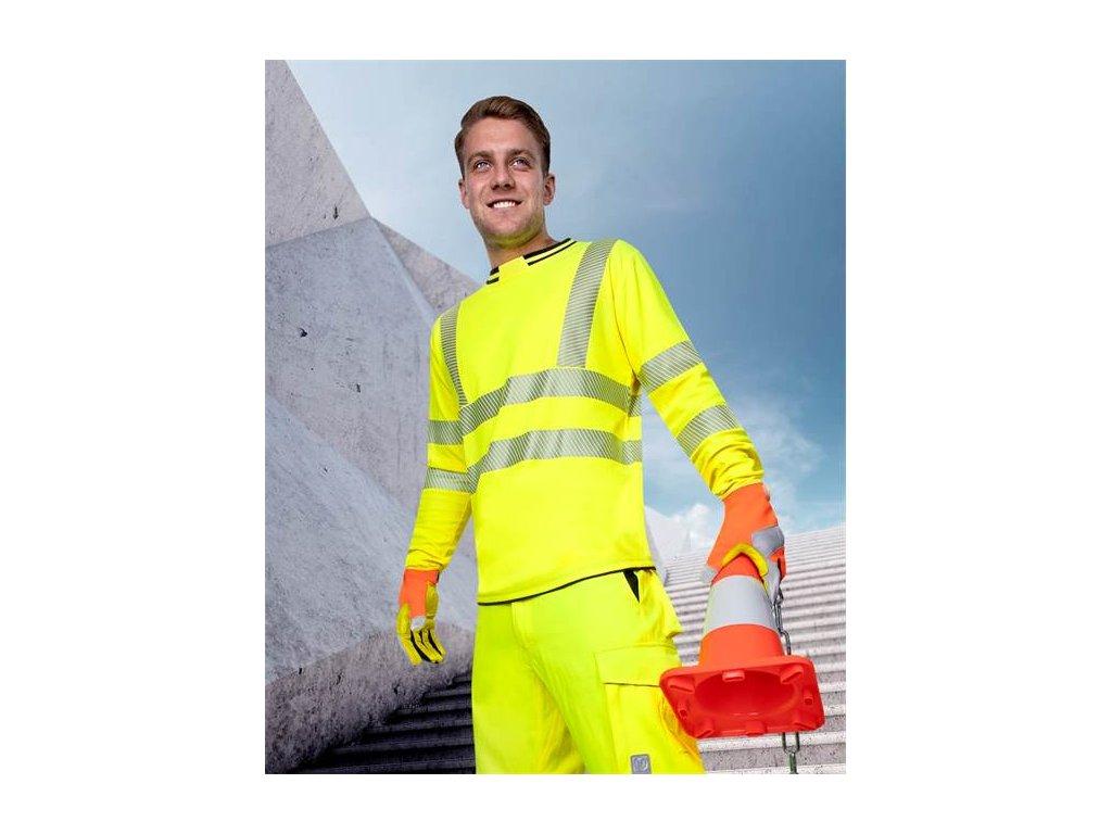 Tričko s dlhým rukávom ARDON®SIGNAL hi-viz žlté