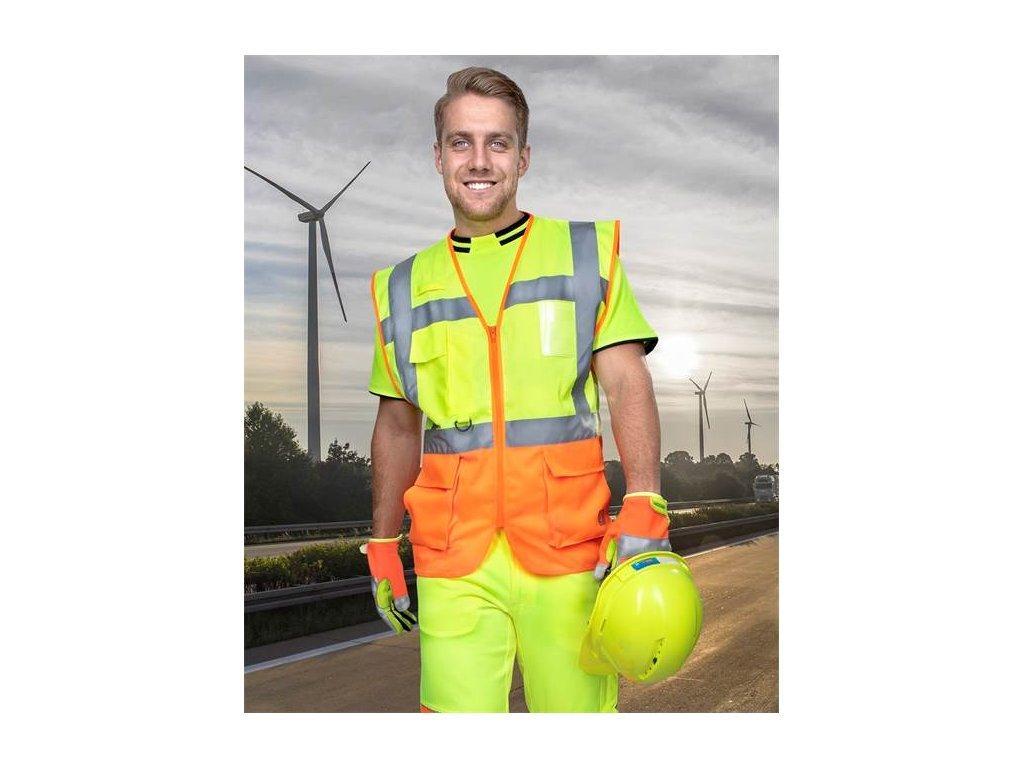 Manažérská výstražná vesta ARDON®SIGNAL , žlto-oranžová