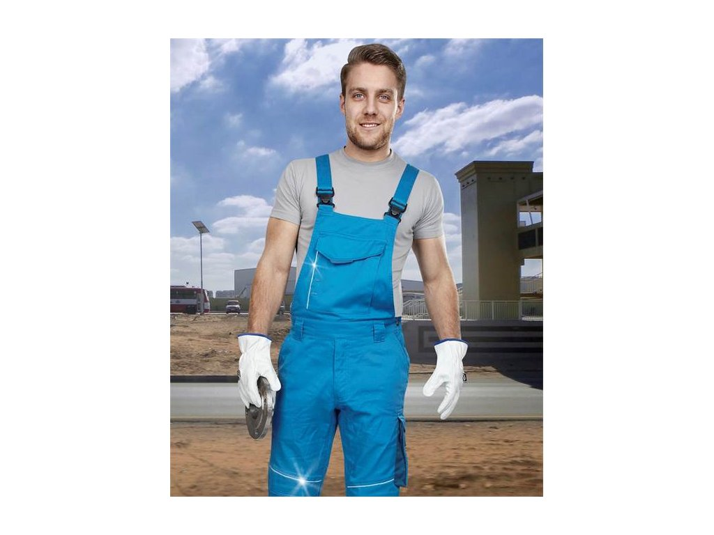 Nohavice s náprsenkou ARDON®SUMMER short modrá