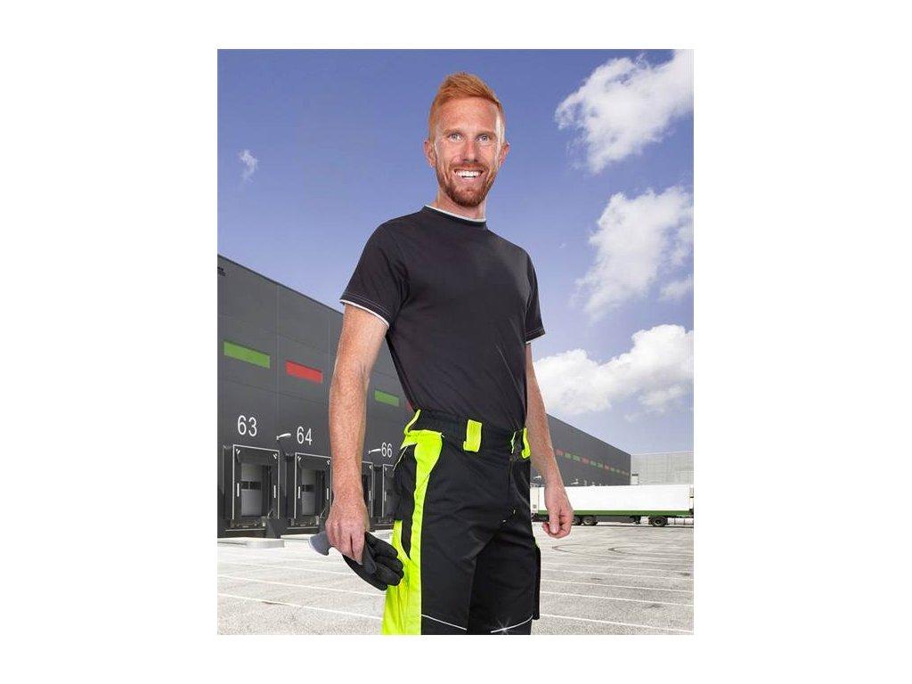 Nohavice do pása ARDON®NEON čierno-žlté