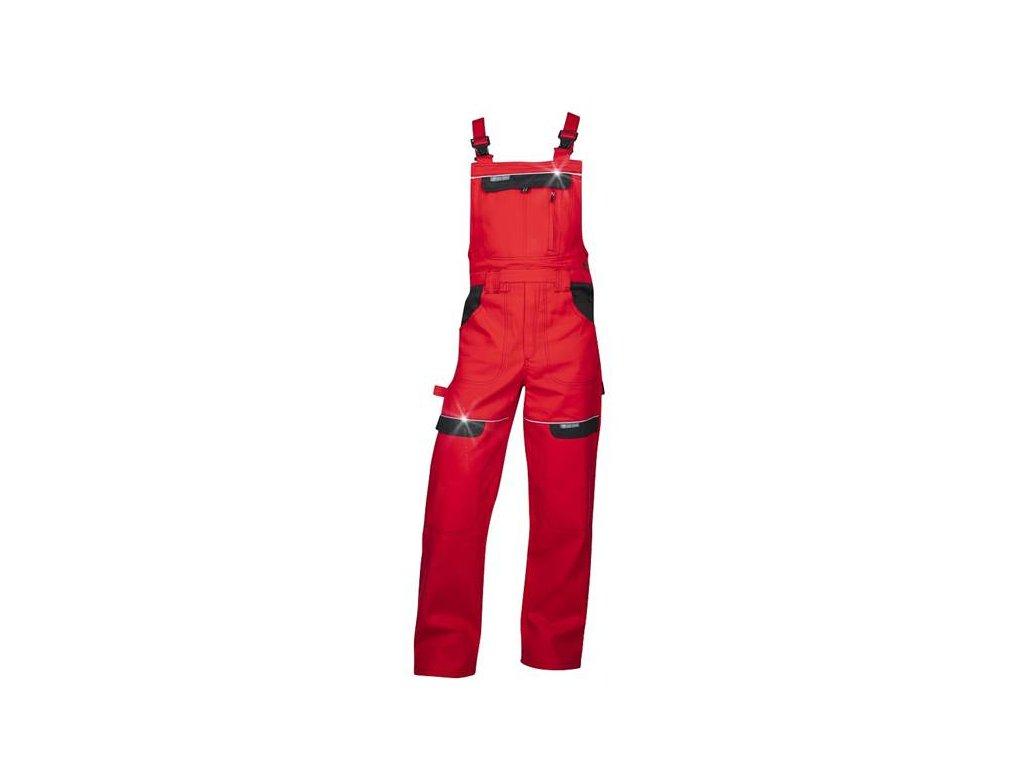 Nohavice s náprsenkou COOL TREND červené 194 cm