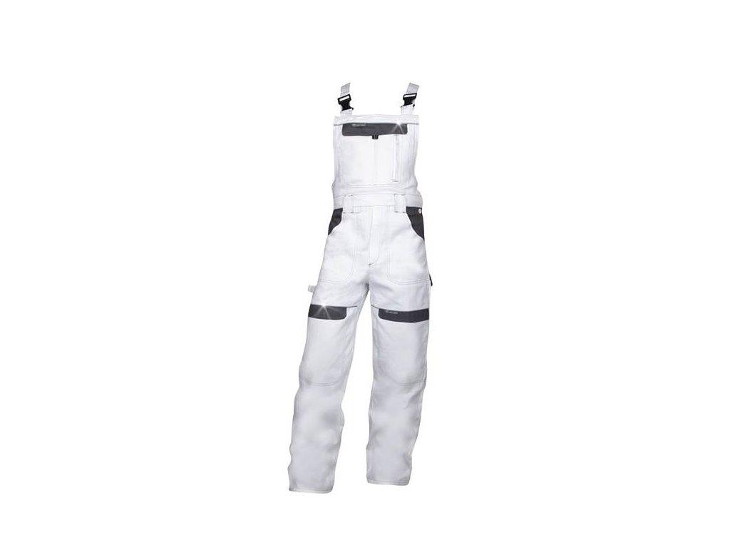 Nohavice s náprsenkou COOL TREND bielo-sivé