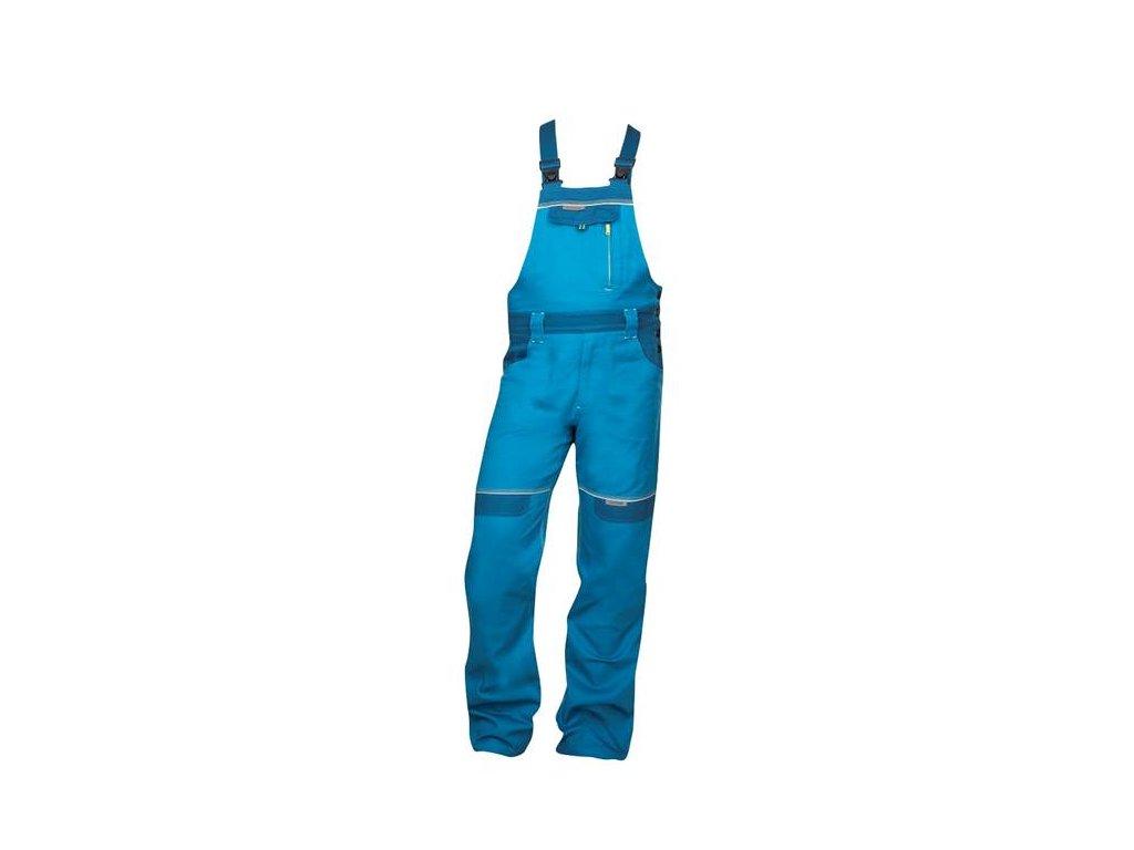 Nohavice s náprsenkou COOL TREND skrátené stredne modré