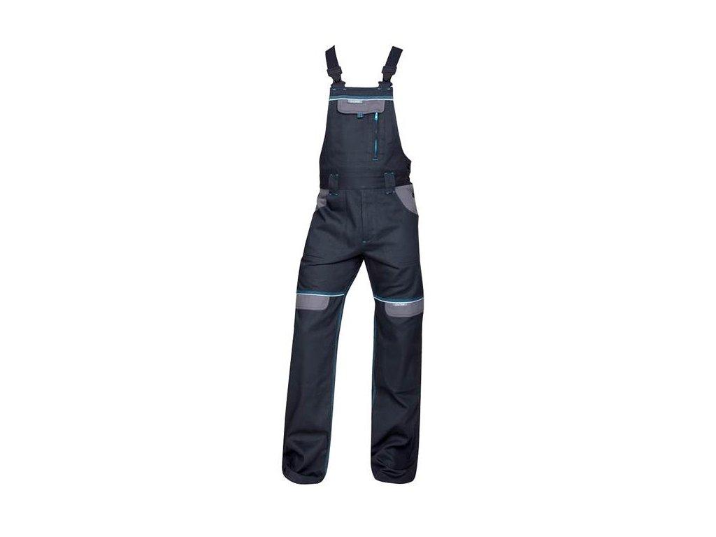 Nohavice s náprsenkou COOL TREND čierne SHORT