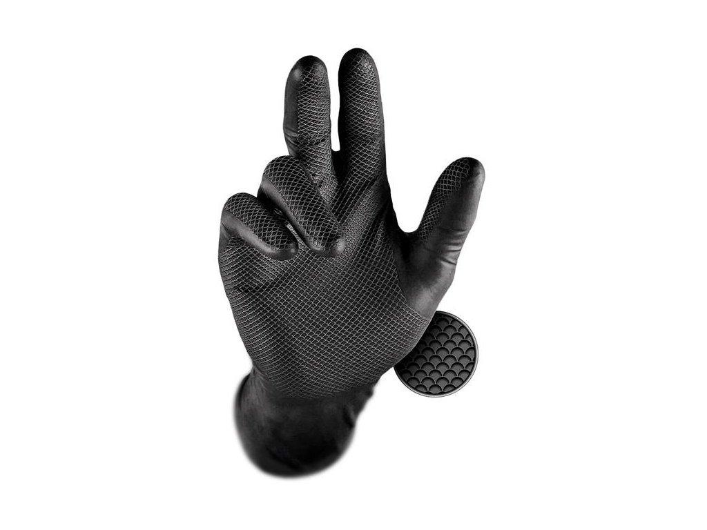 Rukavice GRIPPAZ 246A čierne 50 ks